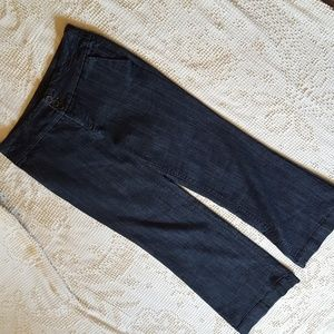 Maurices dark wash wide leg denim 9/10 short